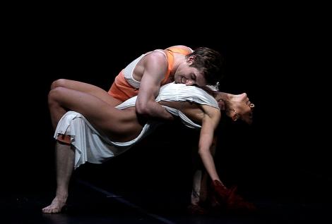 Dancers perform in the Schneewittchen (Snow White) ballet dress rehearsal at the Deutsche Oper in Berlin