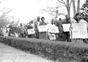 Voting Rights protest in Mississippi 1962