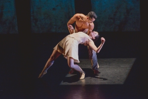 Melissa Bourkas and Cooper Neely in Kollide by Kyle Abraham