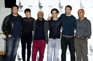 The cast with Akram Khan center left