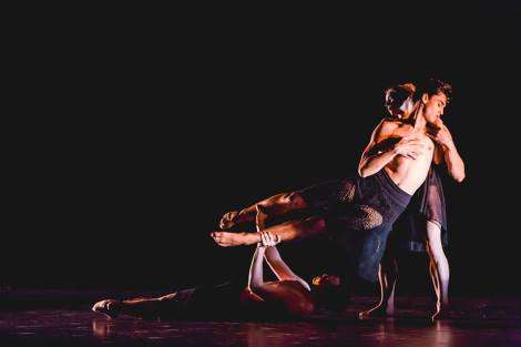 "Nickerson-Rossi Dance in ""DNA"" photo by Arhscana"